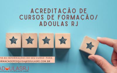 ACREDITAÇÃO DE CURSOS DE FORMAÇÃO/ ADOULAS RJ