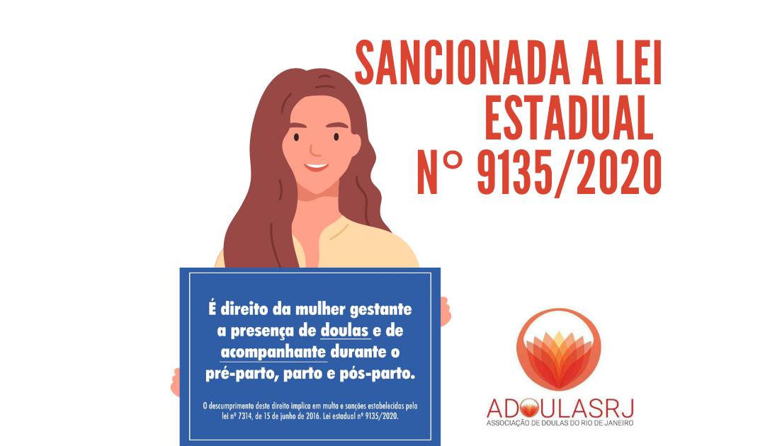 Sancionada a Lei Estadual nº 9135/2020