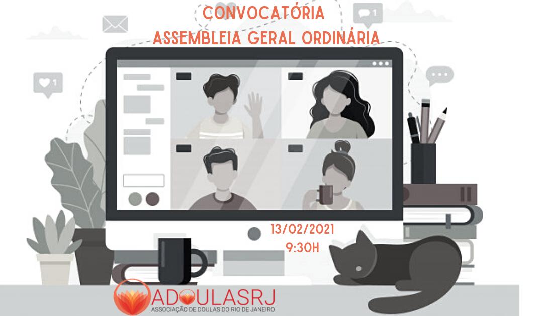 Convocatória Assembleia Geral Ordinária da Associação de Doulas do Estado do Rio de Janeiro,